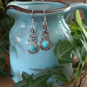 Jewelry - Boho/Southwestern Faux Turquoise Earrings